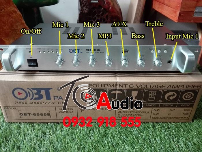 Chức năng các nút trên Amply thông báo ( OBT 6060 )