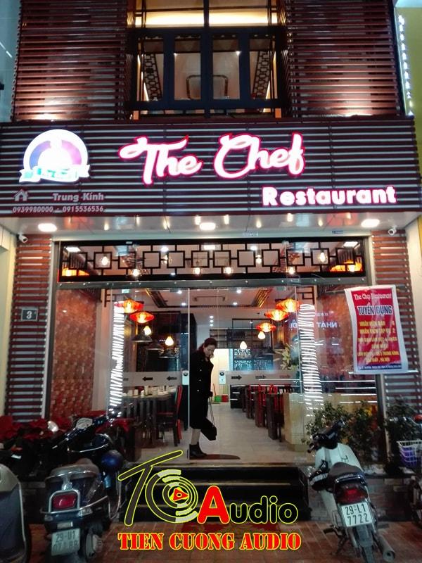 Dự Án Lắp Loa Nghe Nhạc Nhẹ Cho Nhà Hàng The Chef