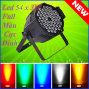 Led par 54 bóng full Color 3w