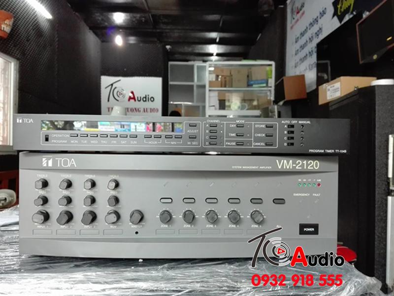 Bộ amply phân 5 vùng Toa VM 2120 chính hãng
