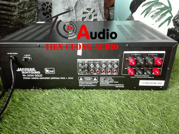 Mặt sau amply karaoke Jarguar PA-203N Gold