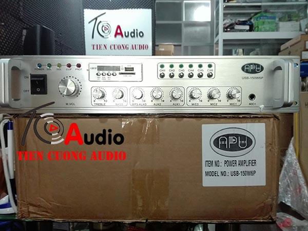 Amply liền mixer 6 vùng APU150W