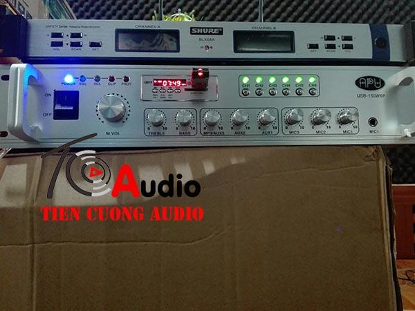Lắp đặt amply 6 vùng APU 150W tại cửa hàng Spa Bà Triệu