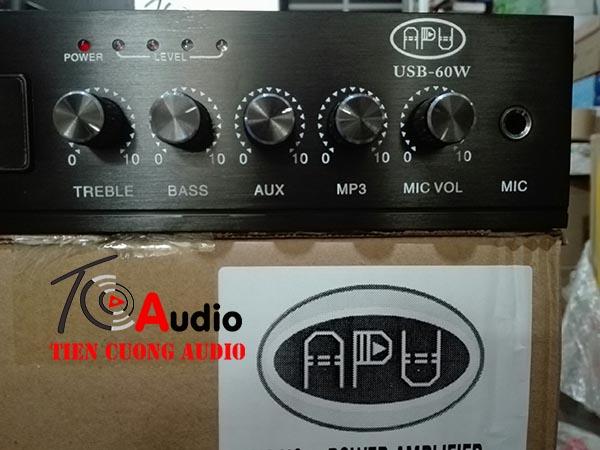 Các núm điều chỉnh volume trên amply