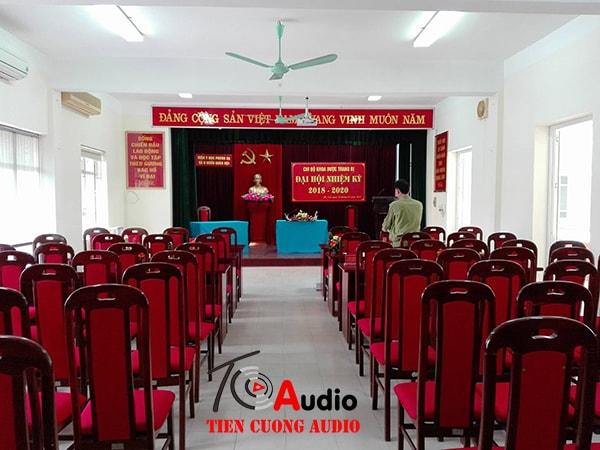 Dự án lắp đặt hệ thống âm thanh hội trường