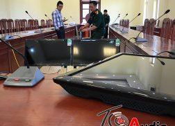 hệ thống âm thanh hội nghị trực tuyến truyền hình