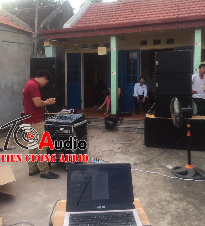 dự án lắp đặt cấu hình dàn âm thanh đám cưới array 130 triệu về Ninh Bình