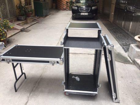 Tủ rack 12u - tủ gỗ đựng thiết bị có, không có ngăn mixer