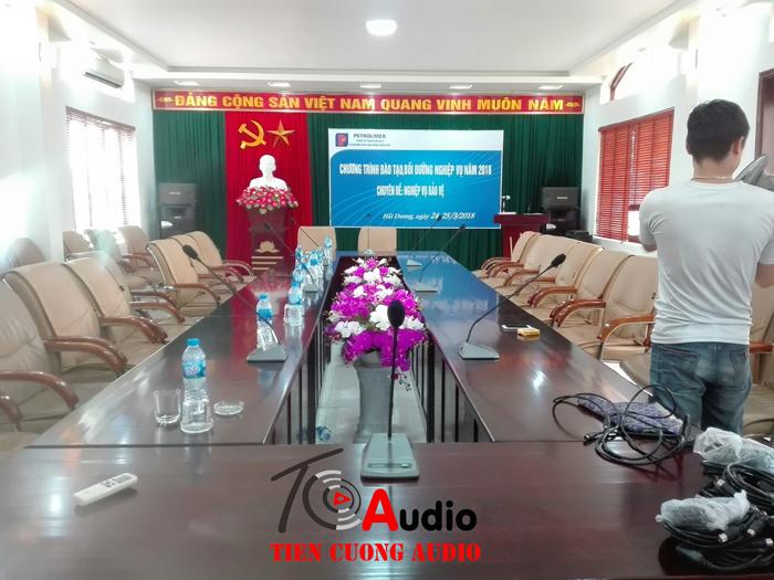 Hệ thống micro cổ cò được Tiến Cường Audio lắp đặt cho các đơn vị