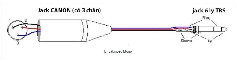 Cách hàn dây canon sang jack 6 ly