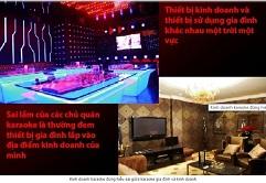 kinh doanh karaoke can su dung thiet bi karaoke chuyen nghiep